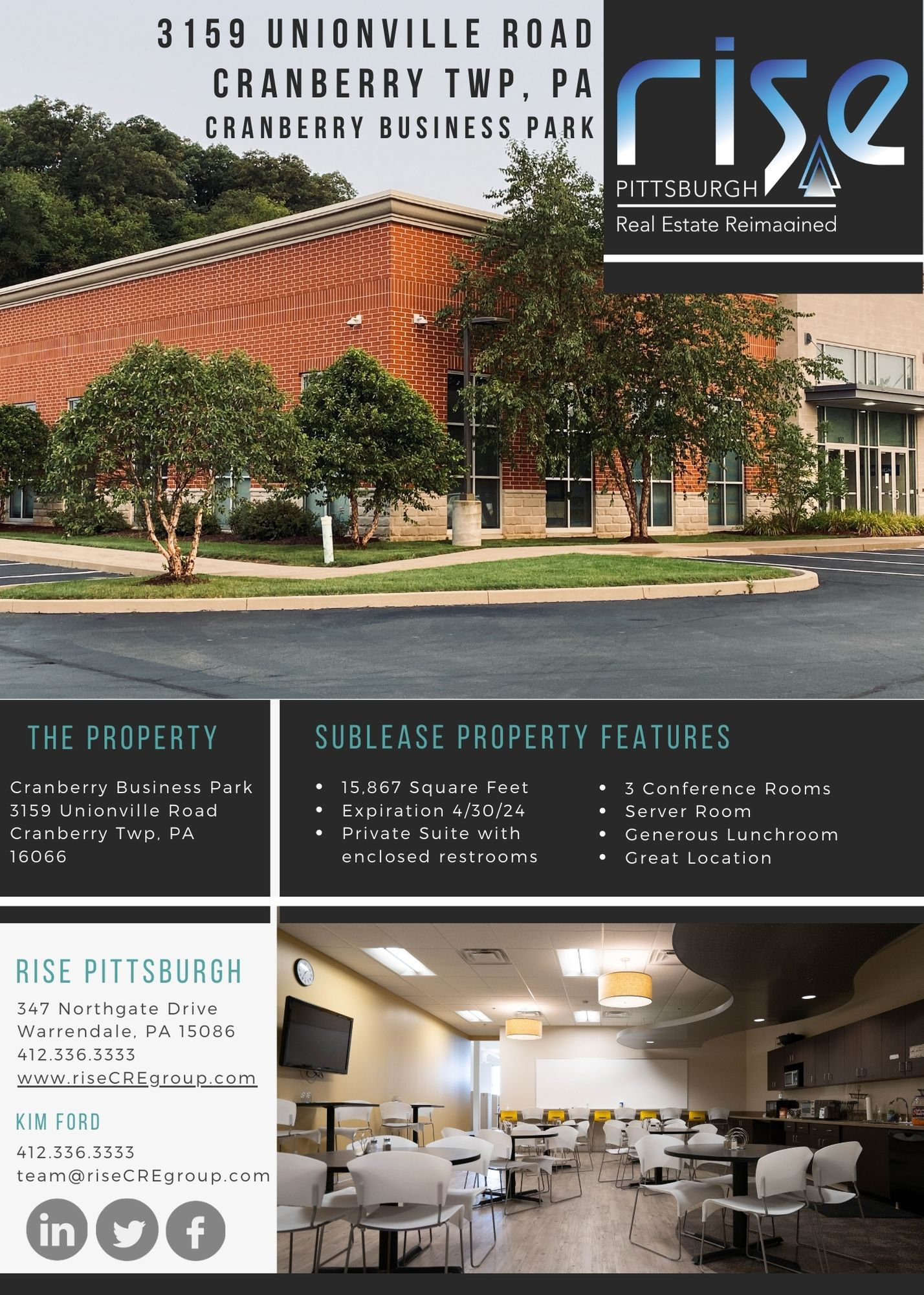 Cranberry Business Park Sublease Brochure